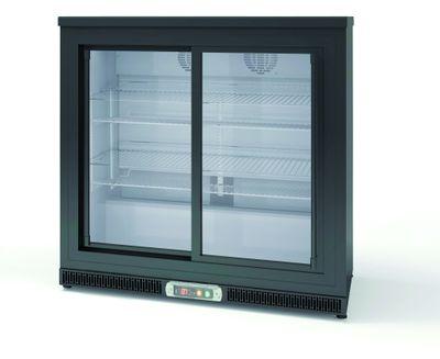 Réfrigérateur bar Profi 200 litres noir - à porte coulissante