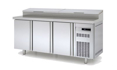 Table réfrigérée avec station de garniture PROFI 200- EN 600 600 x 400