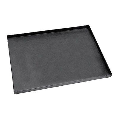 Plaque à pizza rectangulaire en tôle bleue L x l x H 60 x 40 x 3 cm