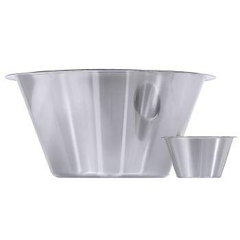 Récipient pour cuisine 18/10, poli satiné, diamètre du bord : 37 cm, volume : 14 litres