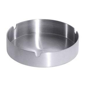 Aschenbecher aus Edelstahl 18/10, Durchmesser: 10 cm, Höhe 3 cm