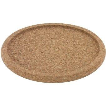 Dessous de plat en liège avec bord, diamètre intérieur 21,5cm, hauteur 1,5cm