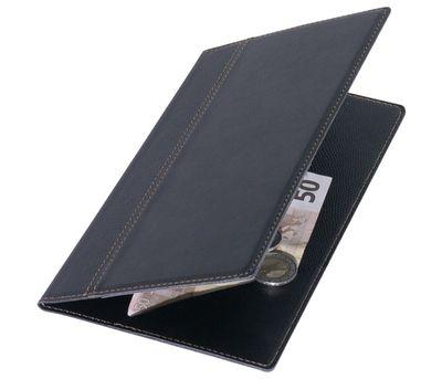 Rechnungsmappe 23x13cm mit Nähten, ohne Stahlecken