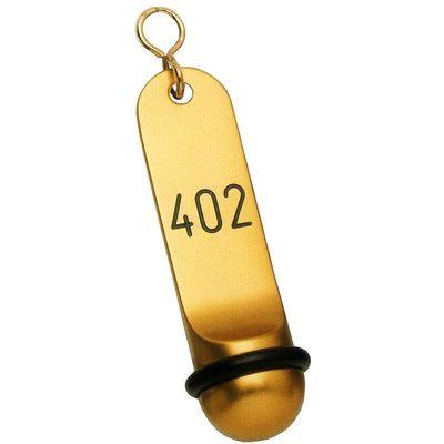 Hotel-Schlüsselanhänger Leichtmetall Gravur 115 x 30 - Gold