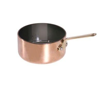 Stielkasserolle, tief, aus Kupfer, 6,5cm Durchmesser