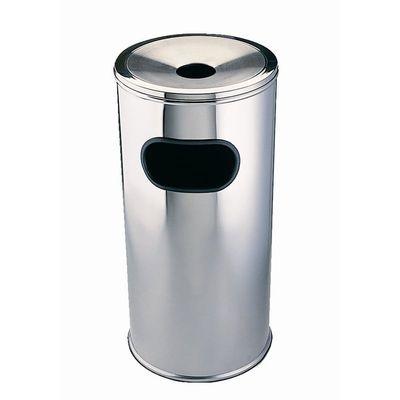 Combi-Abfallbehälter Standascher Edelstahl 20x60cm