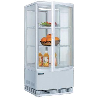 Kühlvitrine Polar 86L weiß - mit 2 gebogenen Glastüren