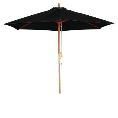 Parasol Bolero rond, noir, 3mètres