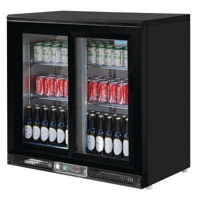 Polar Bardisplay Kühlvitrine mit 2 Schiebetüren für 182 Flaschen