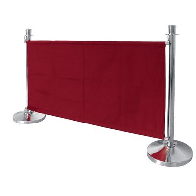 Bolero Segeltuch-Abschirmwand rot