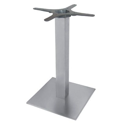 Cadre de table en acier inoxydable, carré 680 mm