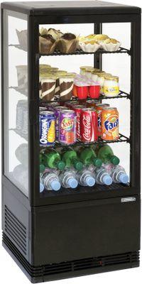 CASSELIN - Mini vitrine réfrigérée positive 78L Noire