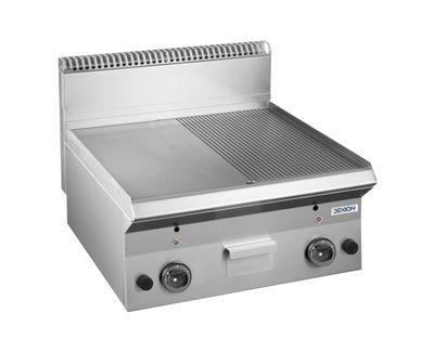 Gasgrillplate Dexio Serie 65 - 60/65 - 1/2 glatt, 1/2 gerillt - Tischgerät