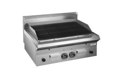 Grill à pierre de lave à gaz Dexion série 65 - 80/65 - appareil de table