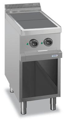 Fourneau électrique Dexion série 77 - 40/70 avec plans de cuisson carrés et abaissés