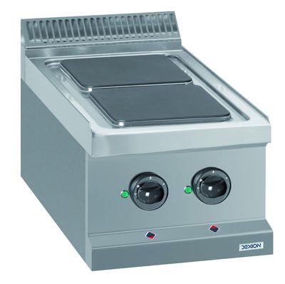 Cuisinière électrique Dexion Série 77 - 40/70, appareil à poser - plaques de cuisson carrées