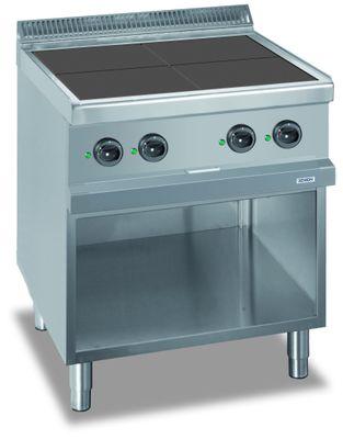 Fourneau électrique Dexion série 77 - 70/70 avec plans de cuisson carrés et abaissés