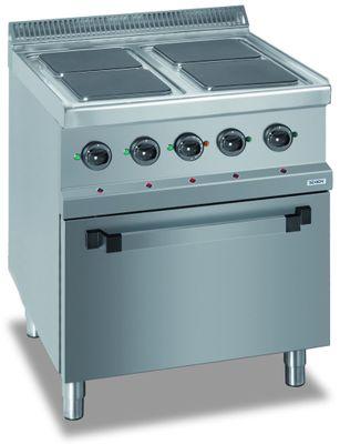 Elektroherd Dexion Serie 77 - 70/70  mit Elektrobackofen - quadratische Kochfelder