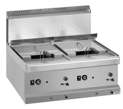 Friteuse à gaz Dexion série 77 - 70/70 9+9 litres - à poser