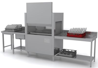 Lave-vaisselle à avancement automatique Dexion D821LTDD avec entrée à droite