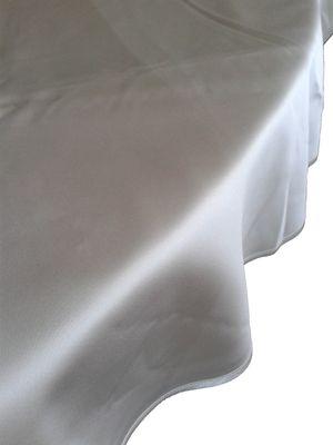 Damasttischwäsche flammhemmend rund, 100 % PES, weiss, 280 cm rund