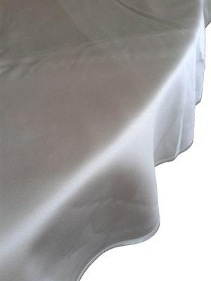 Damasttischwäsche flammhemmend, 100 % PES, weiss,  130 x 130 cm