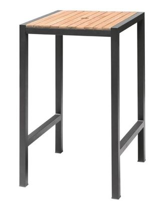 Mange-debout carré en acier et acacia Bolero 60 cm