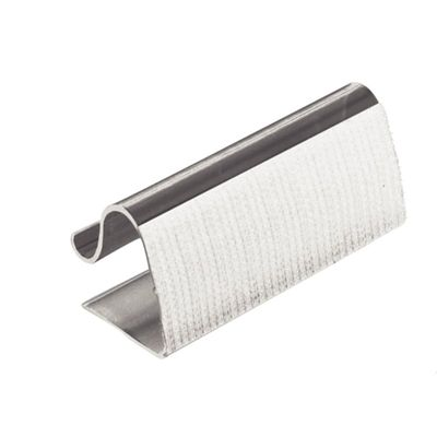 Klettbandtischklipp 5-20mm für Skirtings - 10 Stück