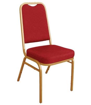 Bankettstühle Bolero mit rechteckiger Lehne, rot 4 Stück