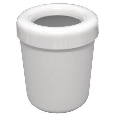 Poubelle de table, blanche, 13x15cm