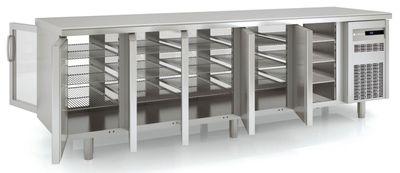 Meuble traversant réfrigéré Premium 5/0 avec 5 portes en verre