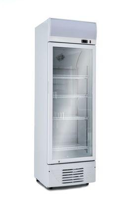 Getränkekühlschrank ECO 278 Weiss mit Leuchtaufsatz