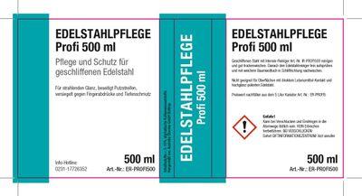 Leerflasche Edelstahlpflege Profi 500ml
