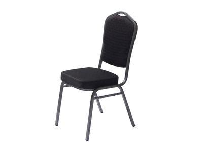 Chaise empilable Castle noire – 4pièces
