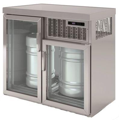 Armoire réfrigérée pour fûts Premium 2 x 50 litres avec portes en verre