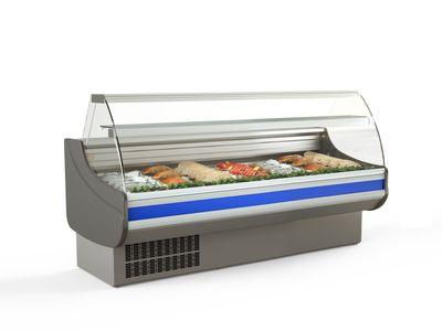 Fischkühltheke Profi 20x9 - gebogenes Frontglas