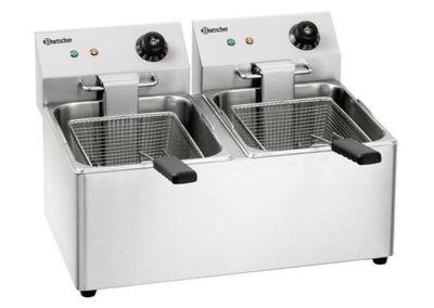 Bartscher friteuse électrique double SNACK IV, 2x 8 litres