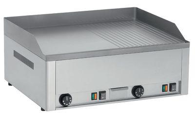 Plaque grillade électrique PROFI60½lisse, ½rainurée avec plaque chromée