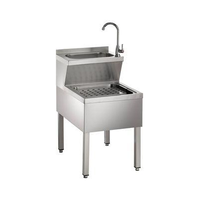 Handwasch-Ausgussbeckenkombination aus CNS, 500x700x850mm