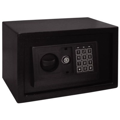 Bolero Stahlsafe für Hotelzimmer - schwarz - 200x310x200mm