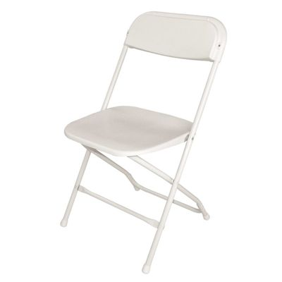 Chaises pliantes Bolero, blanc, 10 pièces