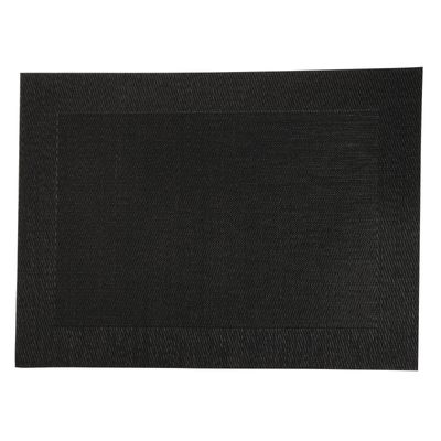 Olympia PVC gewebtes Tischset schwarz