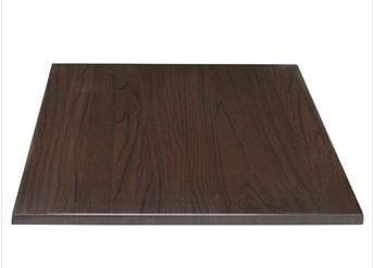 Bolero viereckige Tischplatte dunkelbraun 60cm