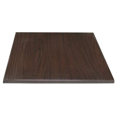 Plateau de table BOLERO 70x70 cm marron foncé