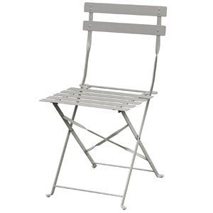 2chaises en acier Bolero, grises, pliantes