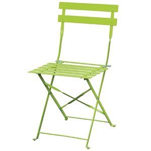 Stahlstühle Bolero hellgrün klappbar 2 Stück