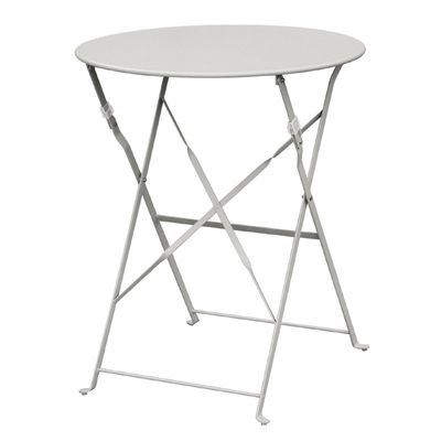 Stahltisch Bolero rund grau, klappbar