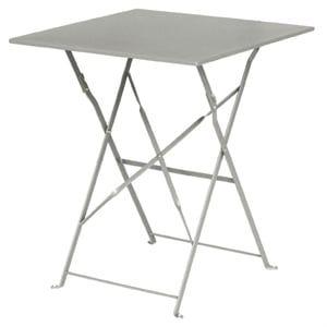 Stahltisch Bolero viereckig grau, klappbar