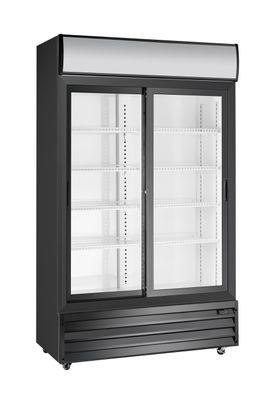Getränkekühlschrank ECO 1000 mit Schiebetüren und Leuchtaufsatz