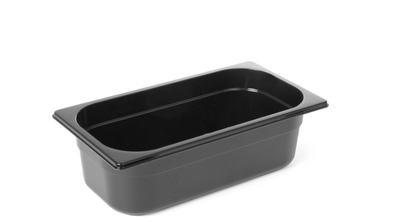 Profi Gastronormbehälter Polycarbonat Schwarz - GN1/4-150